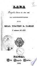Lara tragedia lirica in due atti [la poesia è del sig. A. Berrettoni