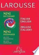 Larousse Mini Dizionario Italiano-inglese, Inglese-italiano