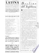 Latina rassegna mensile del mondo latino