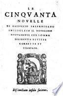 Le cinquanta novelle intitolato il Novellino