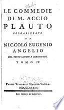 Le commedie di M. Accio Plauto