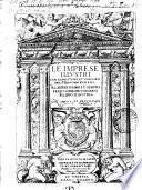 Le imprese illustri con espositioni et discorsi del S. Ieronimo Ruscelli