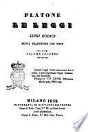 Le leggi libri dodici Platone