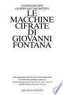 Le macchine cifrate di Giovanni Fontana