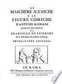 Le maschere sceniche e le figure comiche d'antichi romani