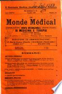 Le monde médical rivista internazionale di medicina e terapia