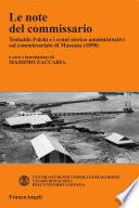 Le note del commissario. Teobaldo Folchi e i cenni storico-amministrativi sul commissariato di Massaua (1898)