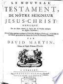 Le Nouveau Testament de nôtre Seigneur Jesus-Christ