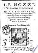 Le nozze del Fausto da Longiano in cui si leggono i riti, i costumi, gl'instituti, le cerimonie ... et aggiuntiui, i precetti matrimoniali di Plutarco..