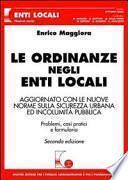 Le ordinanze negli Enti Locali