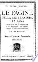 Le pagine della letteratura italiana: Dante - Petrarca - Boccaccio