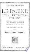 Le pagine della letteratura italiana: Monti - Foscolo - Leopardi