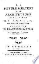 Le pitture, sculture ed architetture della città di Rovigo