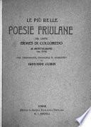 Le più belle poesie fruilane del conte Ermes di Colloredo di Montalbano (sec. XVII)