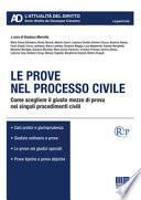 Le prove nel processo civile. Come scegliere il giusto mezzo di prova nei singoli procedimenti civili