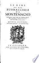 Le rime de' due Buonaccorsi da Montemagno