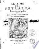 Le rime del Petrarca breuemente sposte per Lodouico Casteluetro