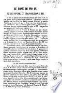 Le rose di Pio 9. e le spine di Napoleone 3