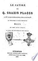 Le satire di Q. Orazio Flacco