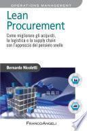 Lean Procurement. Come migliorare gli acquisti, la logistica e la supply chain con l'approccio del pensiero snello