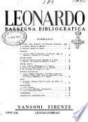 Leonardo rassegna mensile della coltura italiana
