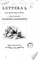 Lettera 1. sull'antica città di Aequa dell'abbate Baldassarre Parascandolo