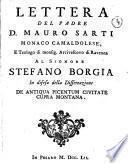 Lettera del padre d. Mauro Sarti monaco camaldolese, e teologo di monsig. arcivescovo di Ravenna al signore Stefano Borgia in difesa della dissertazione De antiqua Picentum civitate Cupra Montana