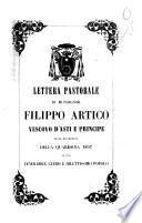 Lettera pastorale di monsignor Filippo Artico vescovo d'Asti e principe nella ricorrenza della Quaresima 1857 al suo venerabile clero e dilettissimo popolo