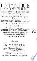 Lettere Critiche Giocose, Morali, Scientifiche Ed Erudite