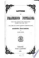 Lettere di Francesco Petrarca delle cose familiari libri ventiquattro Lettere varie libro unico