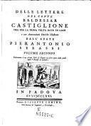 Lettere, ora per la prima volta date in luce da Pierantonio Serassi
