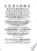 Lezione accademica intorno l'origine delle fontane, con le annotazioni per chiarezza maggiore della medefima