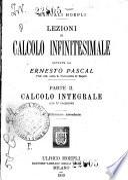 Lezioni di calcolo infinitesimale