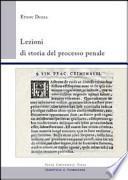 Lezioni di storia del processo penale