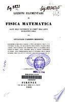 Lezioni elementari di fisica matematica