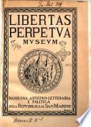 Libertas perpetua (museum) bullettino della Biblioteca-museo ed archivio governativi e dello studio sammarinese