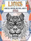 Libri da colorare per adulti - Anti stress - Animali - Lions