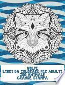 Libri da colorare per adulti - Grande stampa - Zoo Animale - Volpe