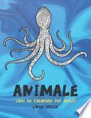 Libri da colorare per adulti - Linee spesse - Animale