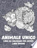 Libri da colorare per adulti - Linee spesse - Animale unico