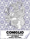 Libri da colorare per adulti - Mandala Anti stress - Zoo Animale - Coniglio