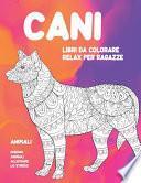 Libri da colorare relax per ragazze - Disegni animali alleviare lo stress - Animali - Cani
