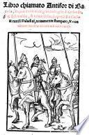 Libro chiamato Antifor di Barosia, el qual tratta delle gran battaglie di Orlando et di Rinaldo (etc.)