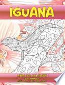 Libro da colorare - Disegni Anti stress per animali - Zoo Animale - Iguana