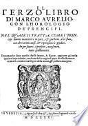 Libro di Marco Aurelio con l'horologio de' prencipi