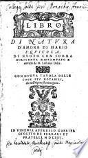 Libro Di Natvra D'Amore