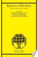 Lingua e società. Scritti in onore di Franca Orletti