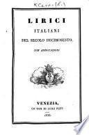 Lirici Italiani del secolo decimosesto
