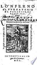 Lo'nferno e'l Purgatorio e'l Paradiso, di Dante Alaghieri