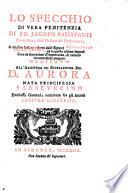 Lo Specchio di vera penitenza ... a miglior lezione ridotto dalli Signori Accademici della Crusca (etc.)